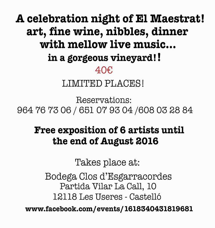 Reserve your place for the celebration of El Maestrat!