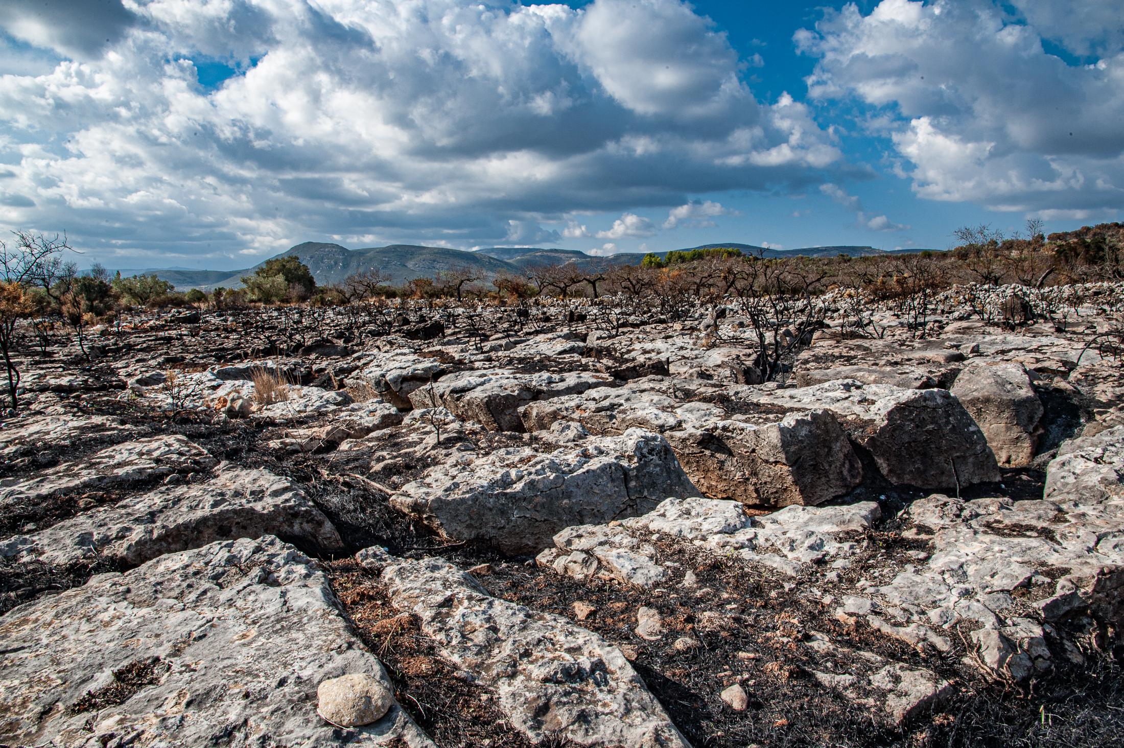 fire-baked land in El Maestrat, Spain