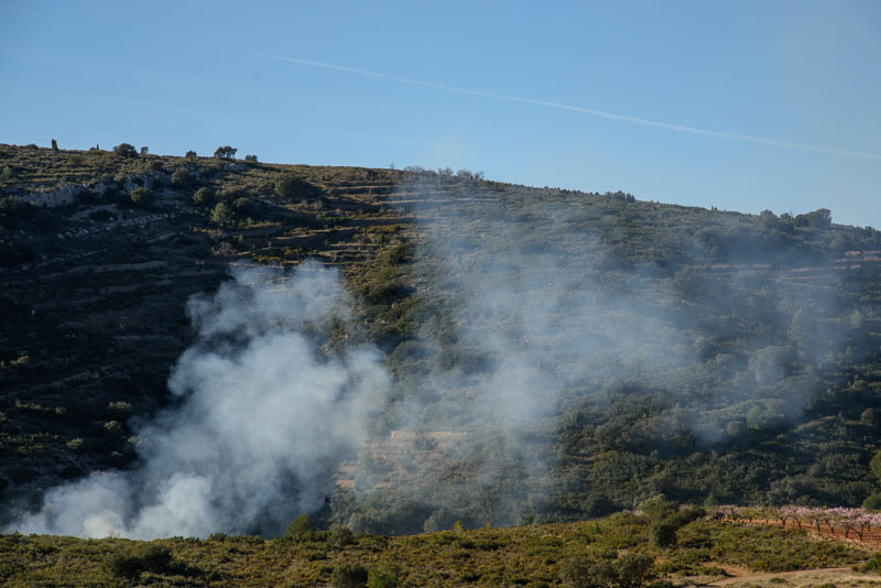 An unintentional fire can easily get out of hand in dry Spain