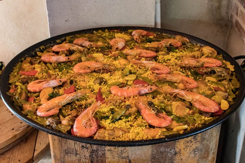 A paella variation - still cooked the traditional way