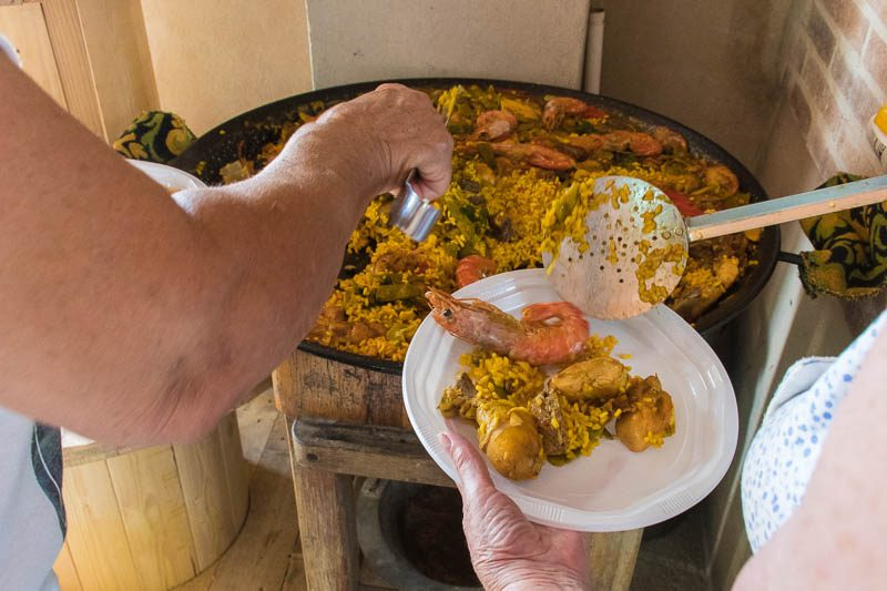 A paella is can be made with many different ingredients - if you are not snobbish