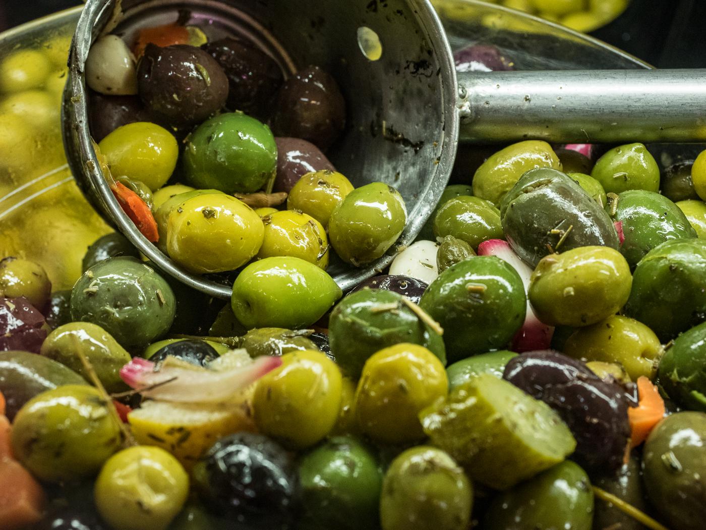 Scrummy olives from El Cabanyal market