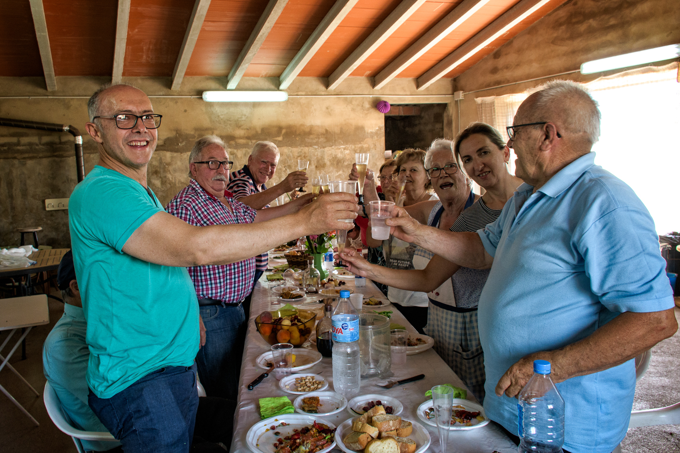 Toasting health and happiness in Spain