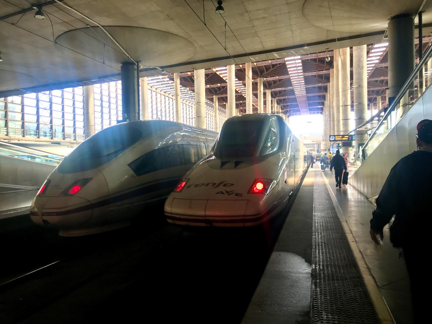 Valencia Ave Train from Madrid