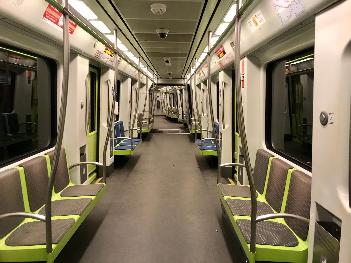 Alone on the Valencia metro
